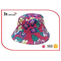 Buy cheap Tropical Printed Bucket Hat 52cm head circumference with yellow cotton lining from Wholesalers