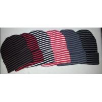High quality wholesale striped pattern Beanie warm Hat snow cap for adults teenagers
