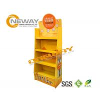 Light Duty Paper Shelf Pop Cardboard Display For Products Promotion
