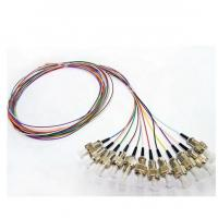 Wholesale 0.9mm Tight Buffer Fiber Optic Pigtail ST UPC Connector 12 Colors 12 Fibers from china suppliers