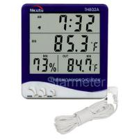 Buy cheap Indoor / Outdoor Thermometer with Humidity and Clock (TH802A) from wholesalers
