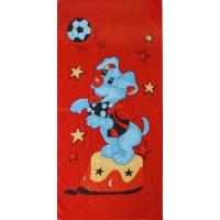 Blue Dog Play Football Pattern Beach Towl Me-B062b