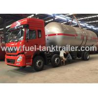 Wholesale Water Cooled Red Color 6x4 Lpg Tanker Trailer 2.22MPa Hydrostatic Pressure from china suppliers