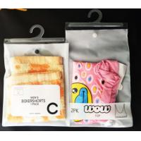 Wholesale Logo Printing Plastic PVC Hook Bag 0.2MM Thickness For Clothes Packing from china suppliers