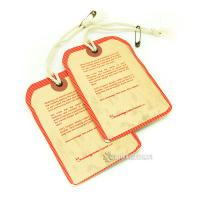 China Fashion Custom Hang Tag Labels For Shirts Attach Metal Eyelet And Cotton String on sale