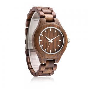 China Amazon hot wooden sale quartz watch wood watch face on sale