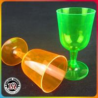 China Disposable 5.5oz PS Plastic Wine Glass for Party Using on sale