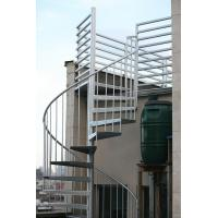 Wholesale Duplex use spiral staircase with stainless steel railing design from china suppliers
