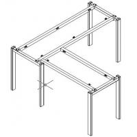 L type metal table frame ,#207