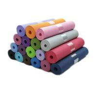 Wholesale Wholesale factory OEM gym equipment 6mm single double color thickened eco friendly yoga mat tpe from china suppliers