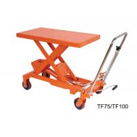 Wholesale 750Kg 16501b Hand Lift Table , Hydraulic Scissor Lift Cart Easy Hand Operation from china suppliers