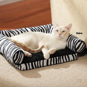 China Tear Resistant Memory Foam Cat Bed , Zebra Print Memory Foam Mattress Dog Bed on sale