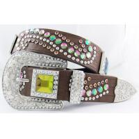 Popular style in western market rhinestone belts with AB glass