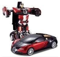 Wholesale Transformers 4 battle robot electric acousto-optic toy remote control car Bugatti from china suppliers