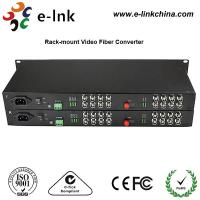 """Wholesale 19"""" 1U Rackmount CCTV Fiber Optic Media Converter 2Channel Forward Audio RJ45 Connector from china suppliers"""