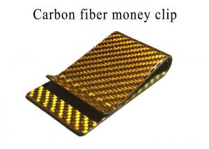 China High Strength Glossy Real Carbon Fiber Money Clip on sale