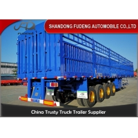 Wholesale Livestock Transport 50T Dropside Cargo Semi Trailer from china suppliers