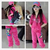 2014 autumn wear children's wear girls sports suit in the spring and autumn baby girls clothing set boutique