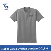 Grey 180gsm Cotton Security Guard T Shirts Short Sleeve Custom Printed Logo