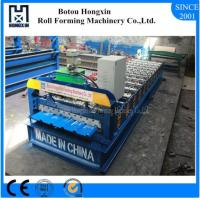 Six Waves Roof Roll Forming Machine Stable 400mm H Steel Body Structure
