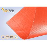 Wholesale Silicone Coated Bulk Fiberglass Cloth Roll Resistant High Temperature Up To 1000 C Degree from china suppliers
