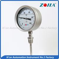 Wholesale SS Dial Temperature Gauge , Shock Proof Bimetallic Expansion Thermometer from china suppliers