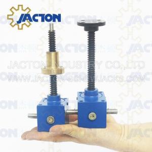 China Worm Electric China mini Screw Jack SWL worm gear screw lifts single start lifting screw swl screw lifter on sale