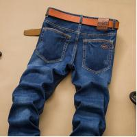 China Customized Color Mens Casual Bulk Stretch Skinny Jeans , Mens Slim Straight Pants on sale