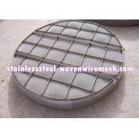Quality Customized Shape Moisture Eliminator Filter Mist Eliminator / Demister Pads With Frame for sale