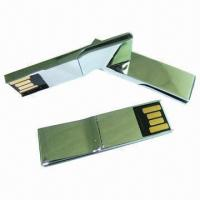 Mini Clip USB Flash Drive with Waterproof, Dust-proof Chipset Insert and 256MB to 16GB Capacities