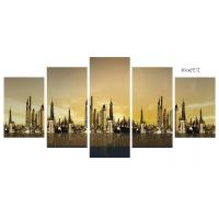 Wholesale Home Decoration 6 Panel Canvas Prints Wall Art City Pattern ODM / OEM from china suppliers