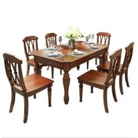 Wholesale American table and chair 6 piece wooden dining set for sale from china suppliers
