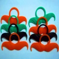 custom logo silicone whiskers for party,welcome custom design