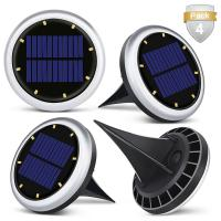 Quality White Solar Powered LED Ground Lights / Solar Lights For Driveway Entrance for sale
