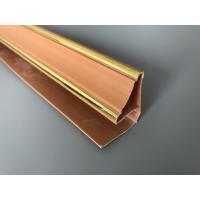 Wholesale 5.95m Length Brown PVC Extrusion Profiles With Golden Lines Top Corner Type from china suppliers