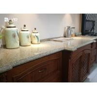 Wholesale Beige Sparkle Quartz Worktops Glossy Polished Ogee Edge Scratch Resistant from china suppliers