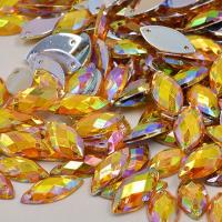 Wholesale Glass Material Sew On Rhinestones 14 Facets Extremely Shiny For Dresses / Sweaters from china suppliers