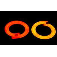 CMN-230V 3.6W/m Crystal Red And Orange Neon Flex Light With Clear PVC Jacket