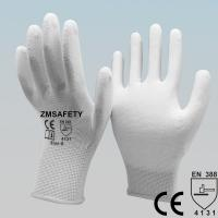 Wholesale Mining White Polyurethane Pu Coated Hand Gloves For Delicate Operations from china suppliers