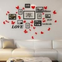 Wholesale Family Gallery Home Decor Wall Paintings Magnetic Photo Frame Set Solution from china suppliers