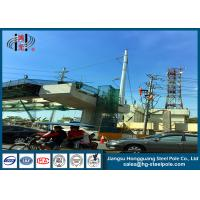 Wholesale Anti - Rust Electric Power Poles , Commercial Light Poles For Distribution Line from china suppliers
