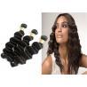 No Shedding Virgin Brazilian Hair Extensions Black Body Wavy Hair Weave