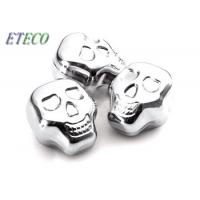 Wholesale Human Skull Head Inox Ice Cube , Custom Stainless Steel Ice Cube Set from china suppliers