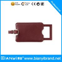 Wholesale 2015 cheapest promotion item leather luggage tags with customer customize logos & various from china suppliers