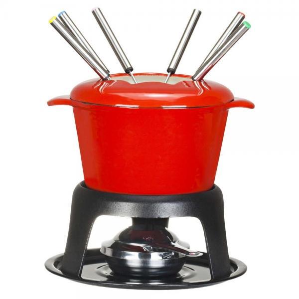 Quality Enamel coated cast iron fondue set for sale
