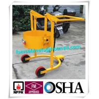 Wholesale Four Wheels Hand Trolley For Steel Drums Storage Cabinets , Portable Drum Lift Trolley from china suppliers