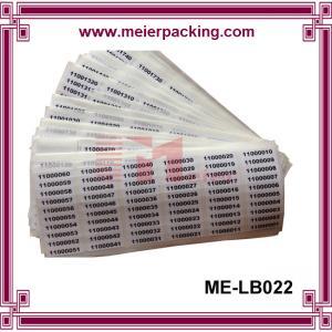 China Numbers sticker label/digital self adhesive paper label stickers/coated paper adhesive sticker ME-LB022 on sale