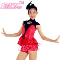 Buy cheap Cap Sleeves Hip Hop Dance Wear Lacing Across Middle Font Bodice With Back Centre Zipper from Wholesalers