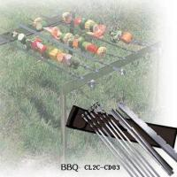 China Stainless Steel BBQ Skewers with Bag on sale