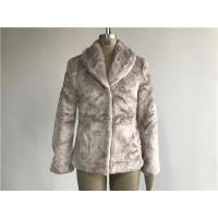 Mink Ladies Fake Fur Coats / Faux Fur Reverse Collar Luxe Coat TW64896